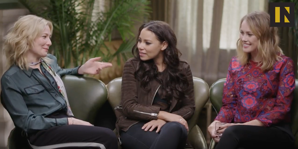 hannah new, clara paget, and jessica parker kennedy talk 'black