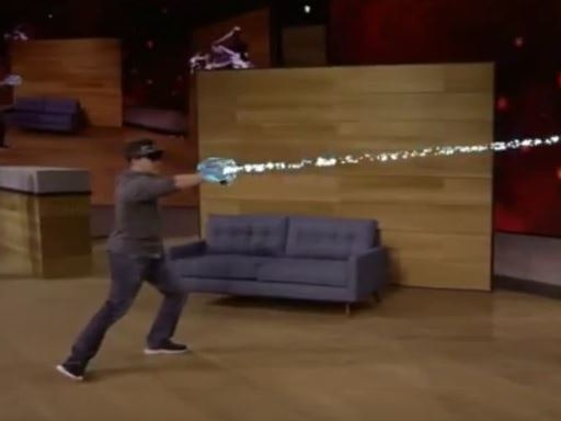 Microsoft 'Project X-Ray' HoloLens Demo Previews Holographic Blasters