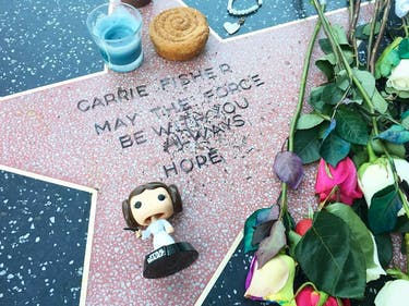 Carrie Fisher Fans Made Her a Star on the Hollywood Walk of Fame