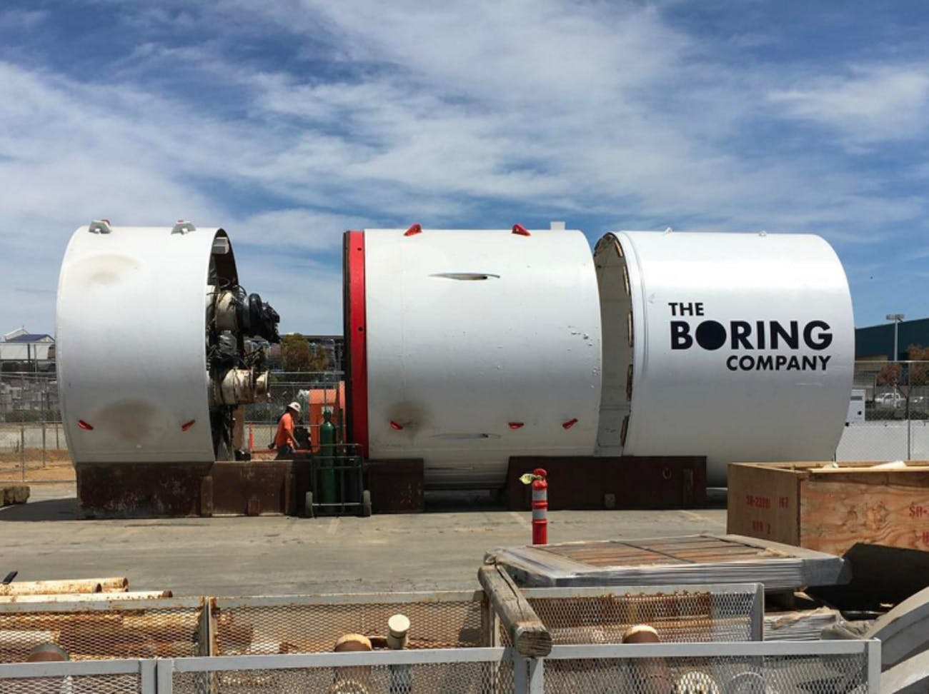 Godot, The Boring Company's Boring Machine.