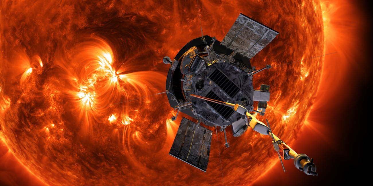 Parker Solar Probe in front of the Sun