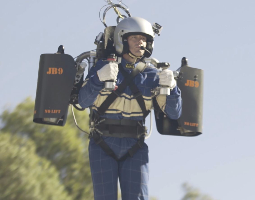 JetPack Aviation's David Mayman preparing for a JB-9 test flight.