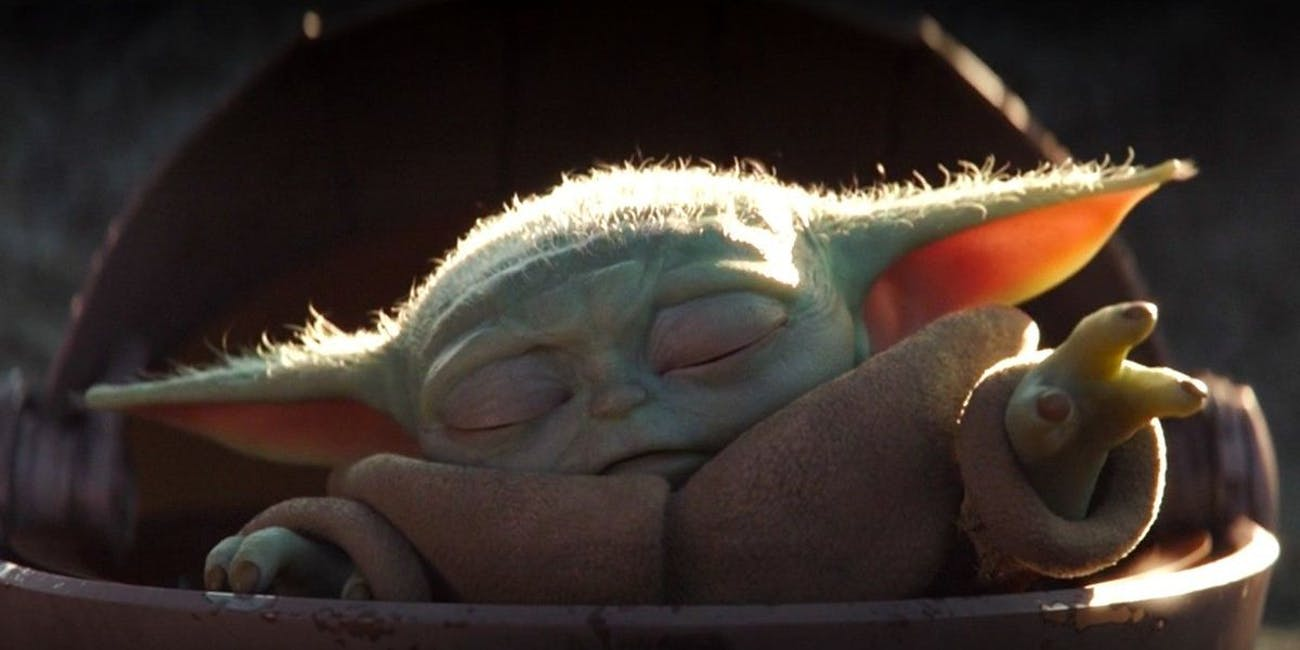 Baby Yoda using the Force in 'The Mandalorian'