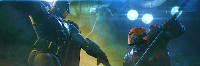 Deathstroke fighting Batman in 'Batman: Arkham Origins'.