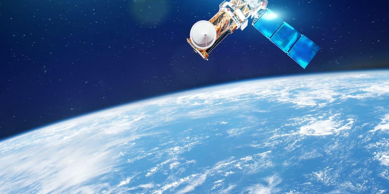 Satellites in orbit.