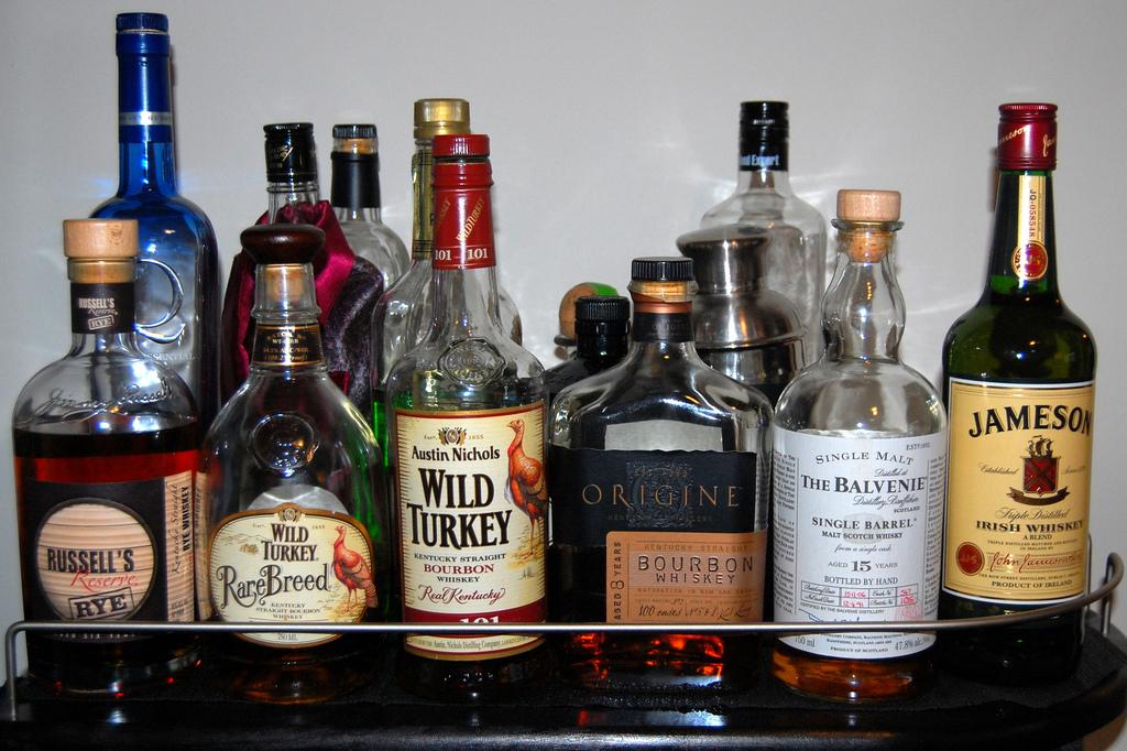 liquor bottom shelf