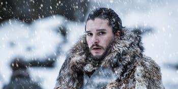 "Kit Harington as Jon Snow in 'Game of Thrones' Season 7 episode 6, ""Beyond the Wall"""