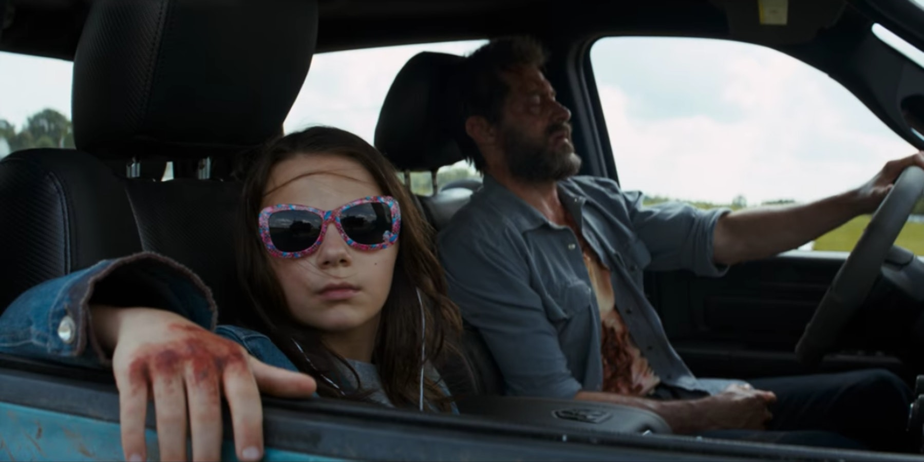 Scenes of X-23 and Wolverine in Fox's 'Logan'