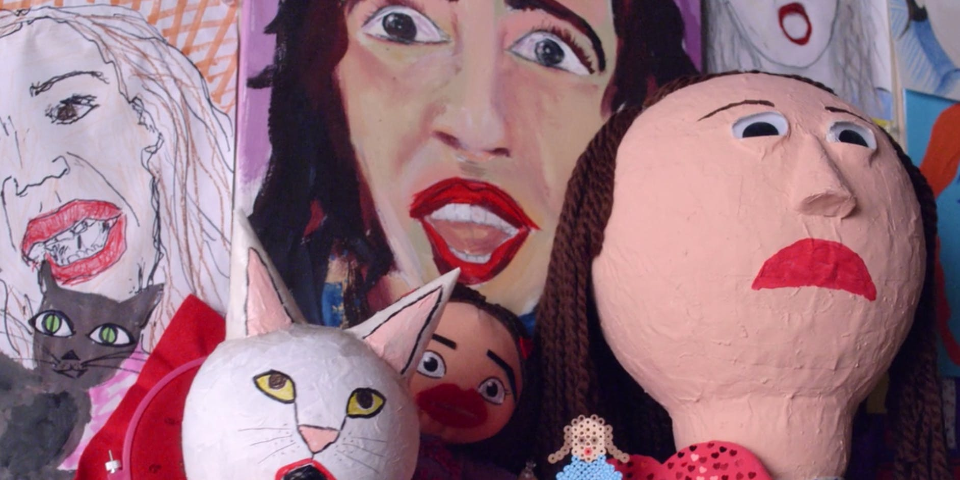 Fan art in the opening of 'Haters Back Off!'