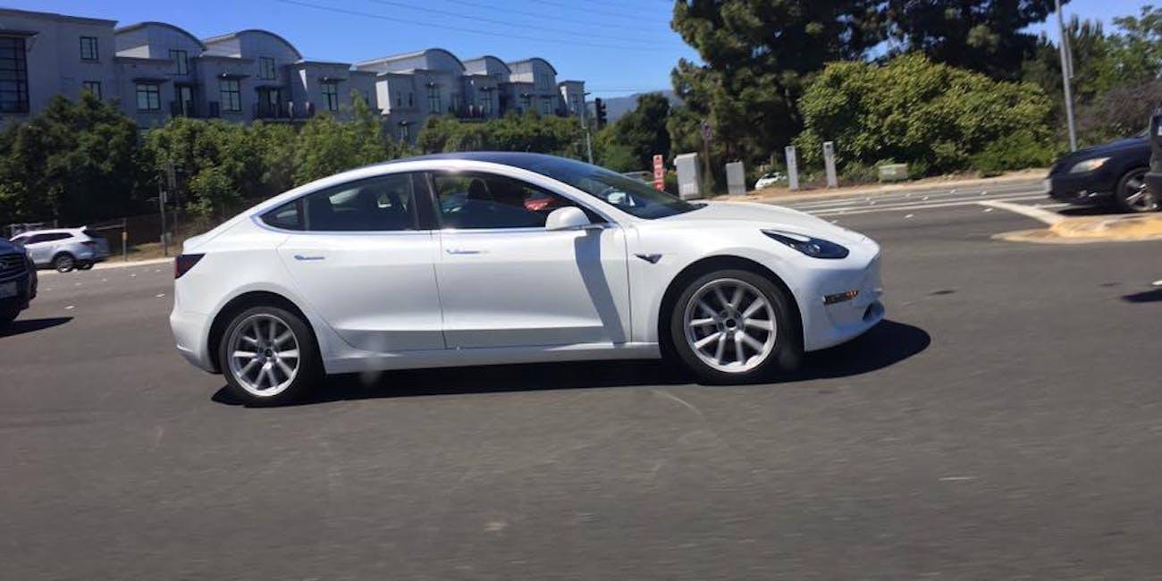 These White Tesla Model 3 Photos Show Its Aerodynamic Design | Inverse
