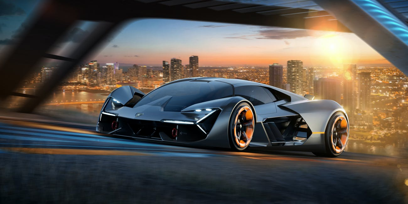 This Lamborghini Self Healing Electric Car Has No Batteries