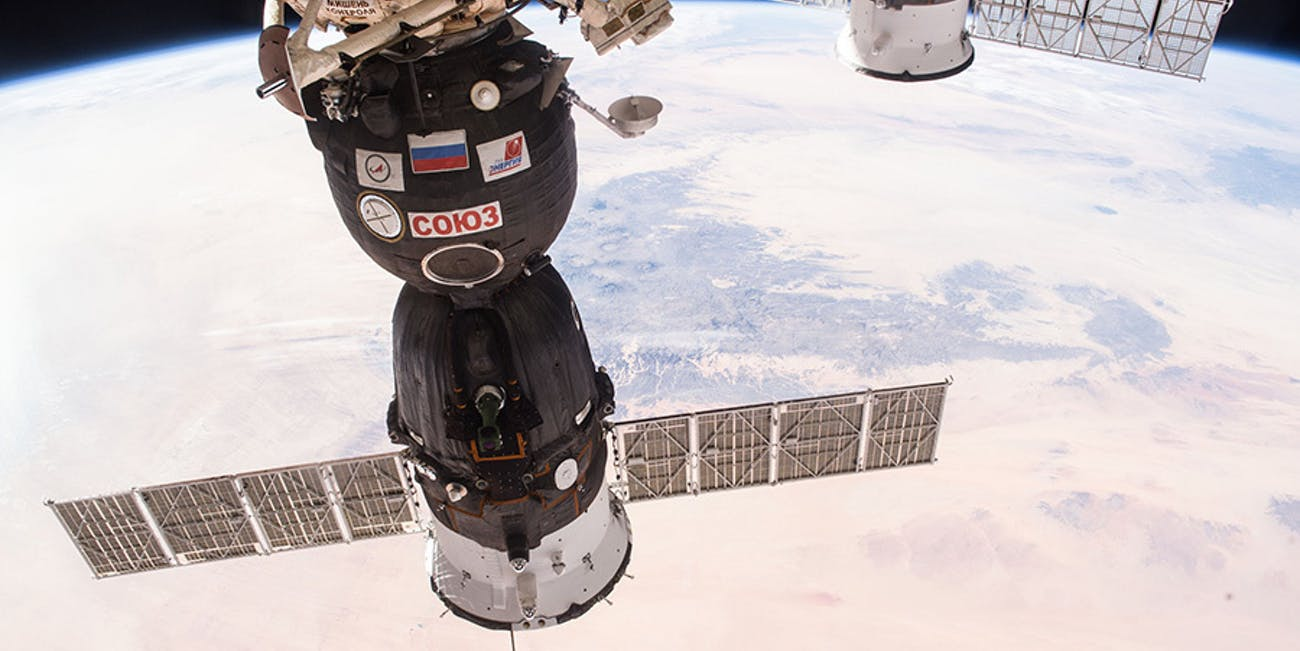 The Russian-made Soyuz capsule.
