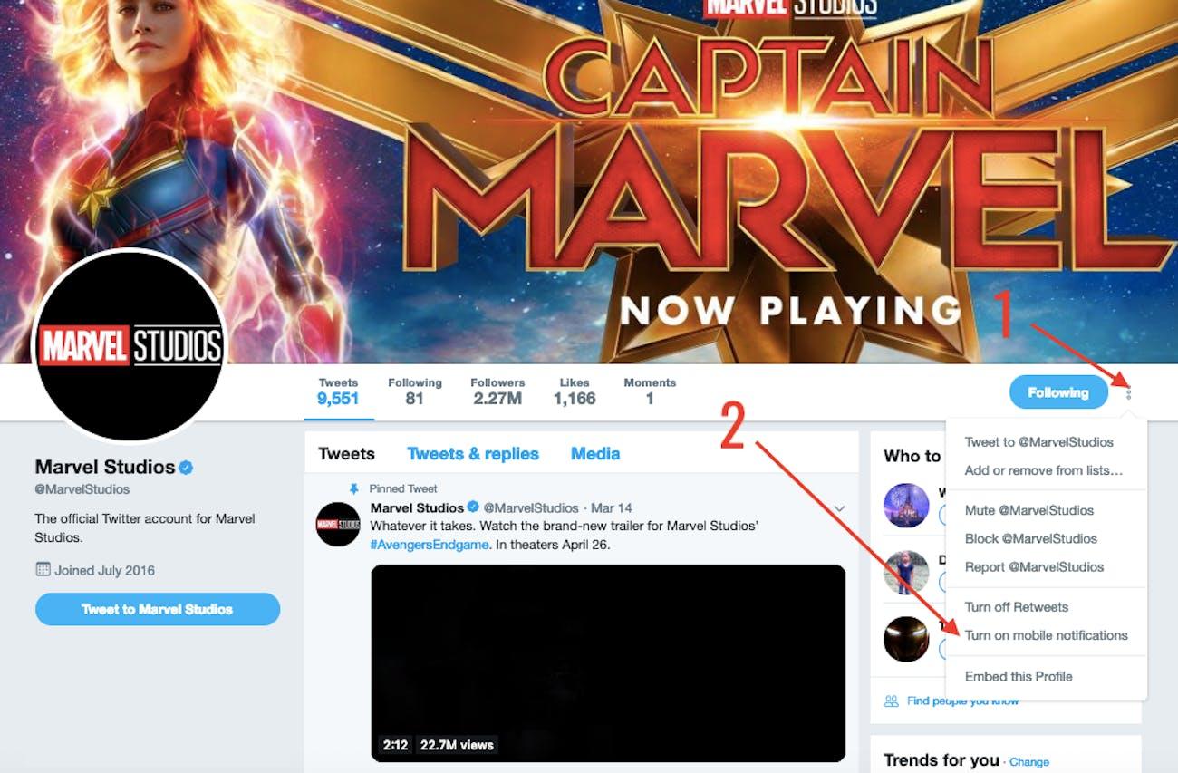 Marvel Studios Twitter