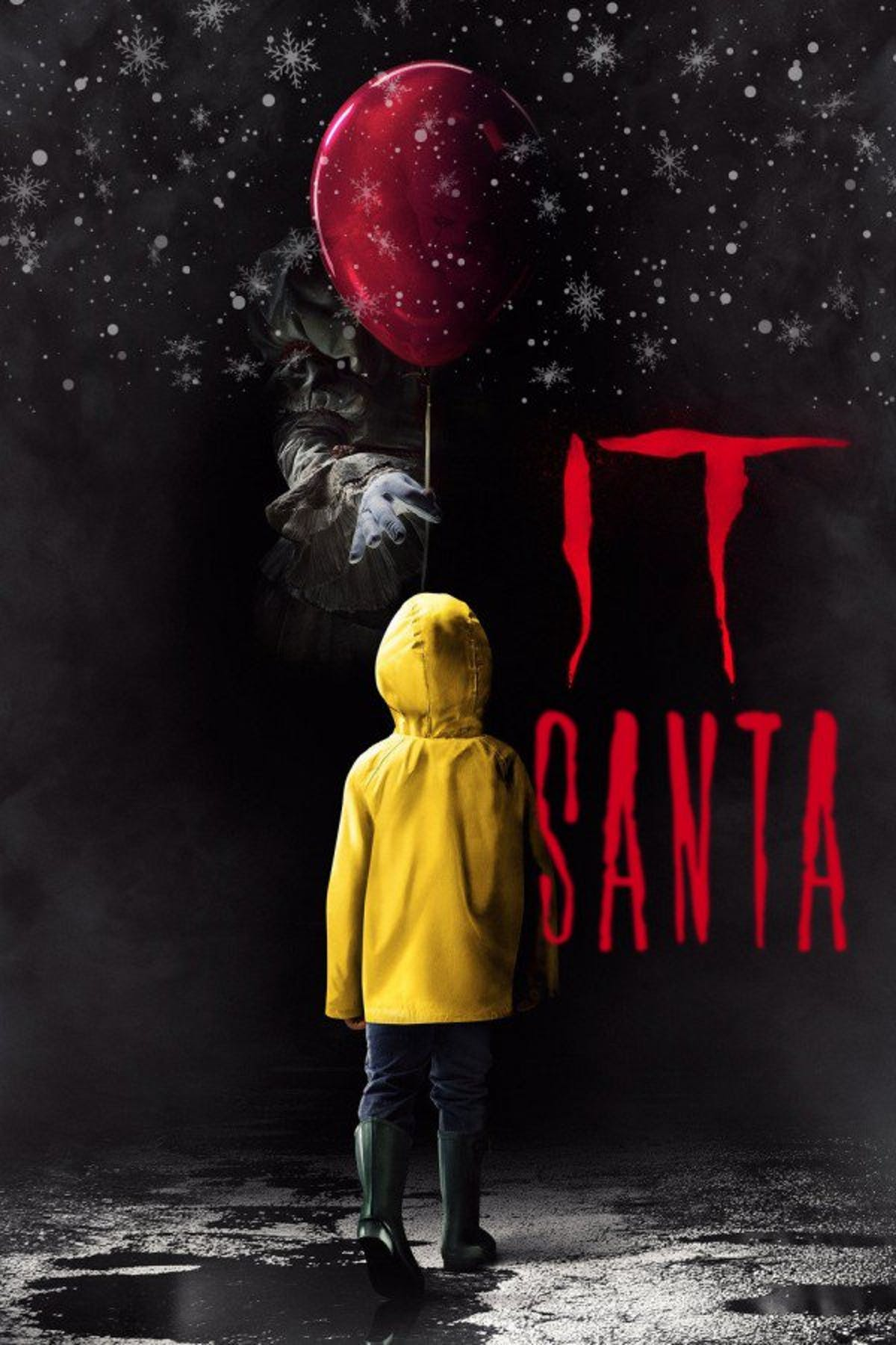 scary santa it clown