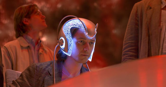 Jams McAvoy as Charles Xavier in 'X-Men'