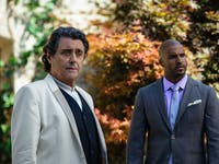Ian McShane as Wednesday and Ricky Whittle as Shadow in 'American Gods' Season 1 finale 'Come to Jesus'