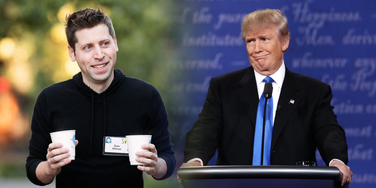 Sam Altman and Donald Trump