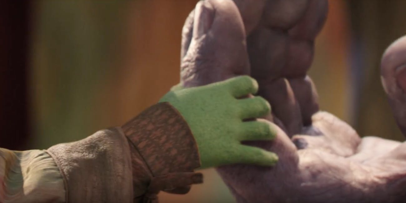 This must be a young Gamora at some point in the past.