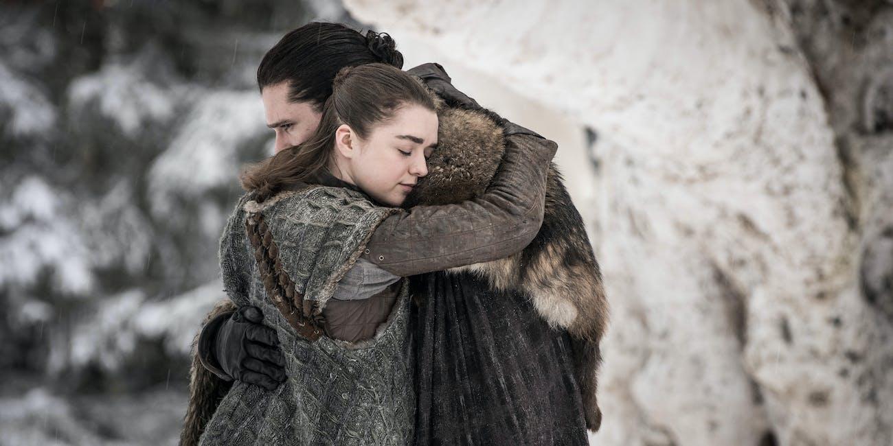 Game of Thrones Season 8 Jon and Arya Reunion