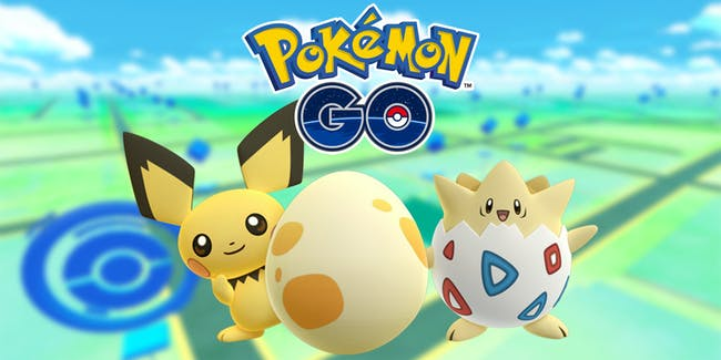 Pichu and Togepi in the new update for Pokmon Go from Niantic