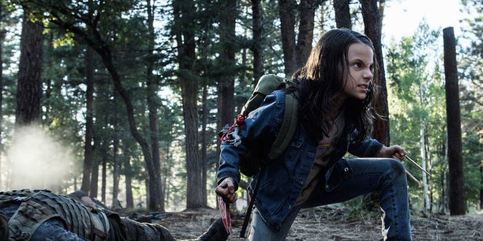 Dafne Keen plays Laura in 'Logan'.