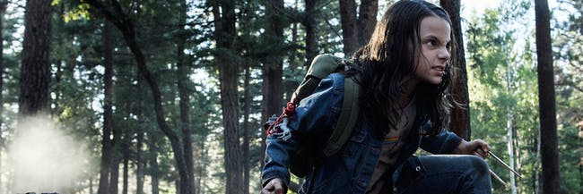 Dafne Keen plays Laura in 'Logan'.