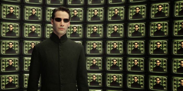 The Matrix Reloaded scene