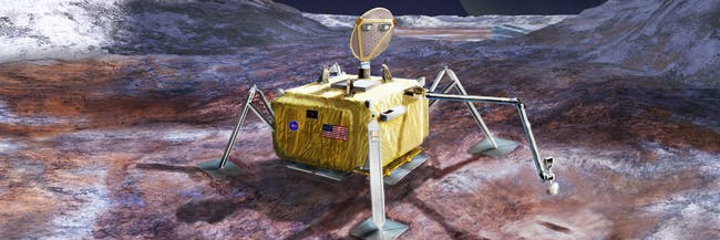 A potential future mission will land a robotic probe on the surface of Jupiter's moon Europa.