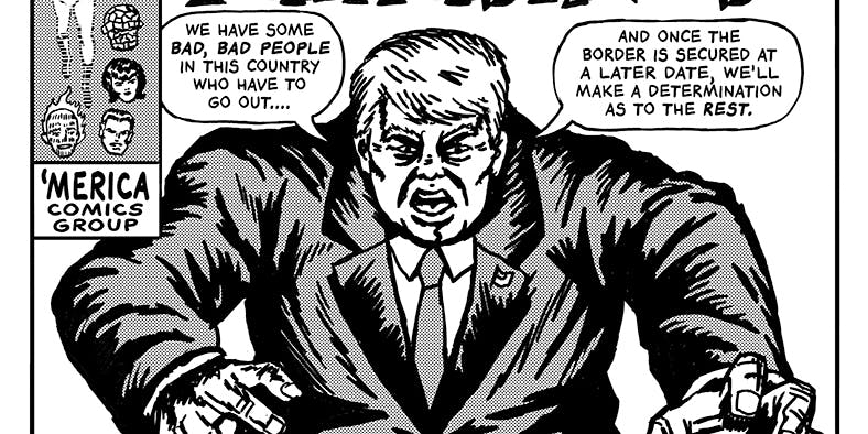 The Unquotable Trump art series depicting Donald Trump by R. Sikoryak