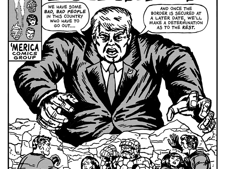 Artist Imagines Trump Quotes As Dark Comic Book Covers