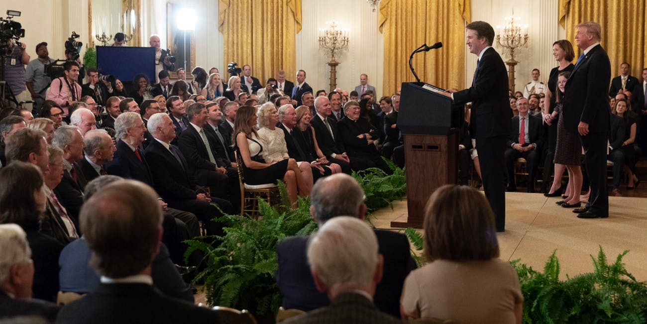 Brett Kavanaugh at the White House on July 9, 2018 after President Donald Trump announced him as the nominee to fill Justice Anthony Kennedy's soon-to-be-vacated seat.