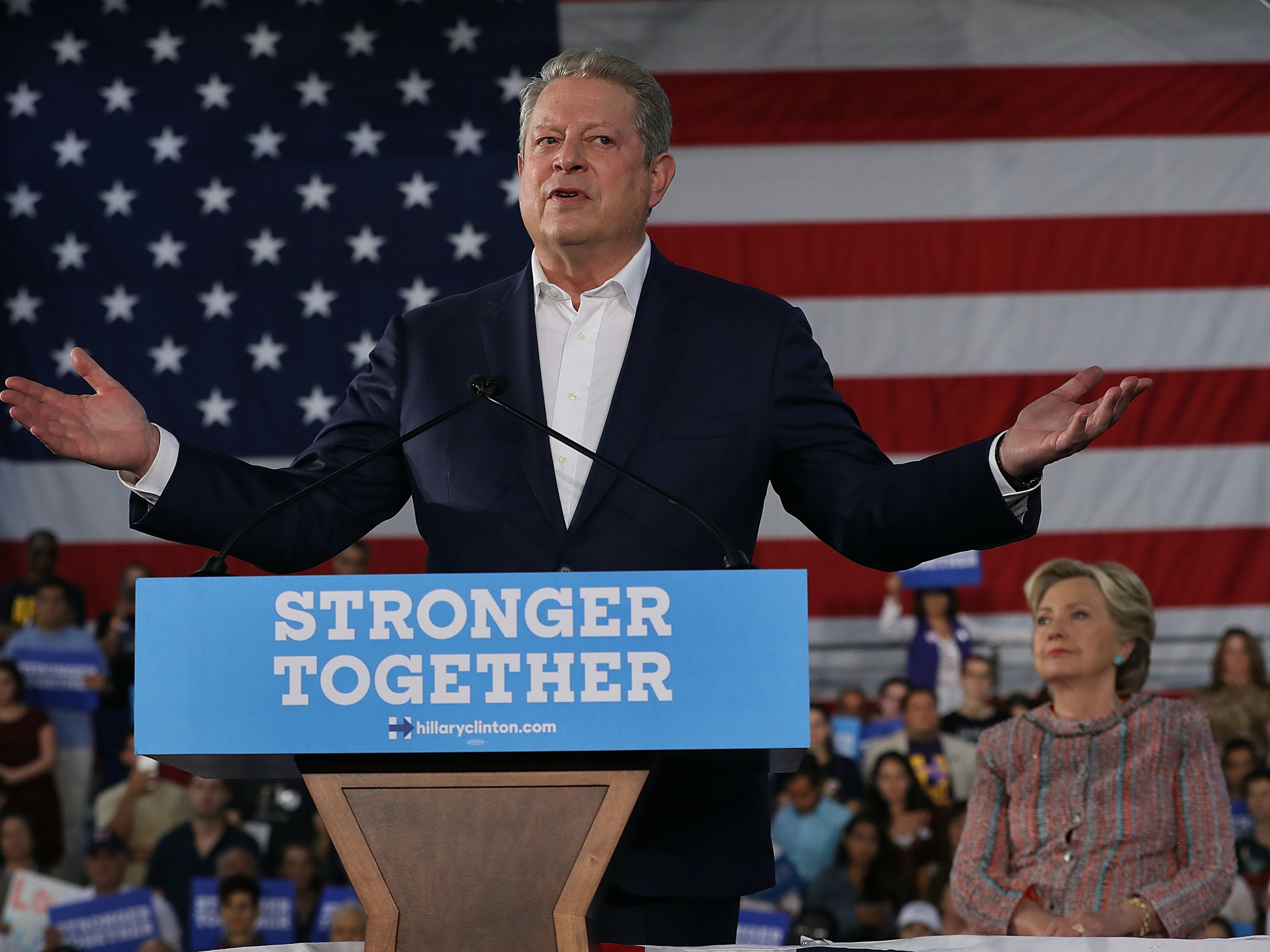 While campaigning for Hillary Clinton in Florida, Al Gore spoke out against Amendment One.