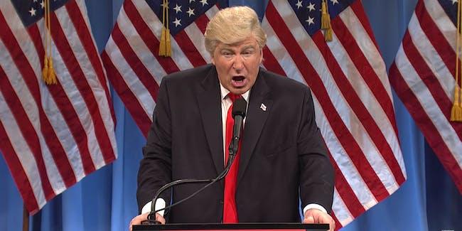 Alec Baldwin as Donald Trump on SNL January 14, 2017