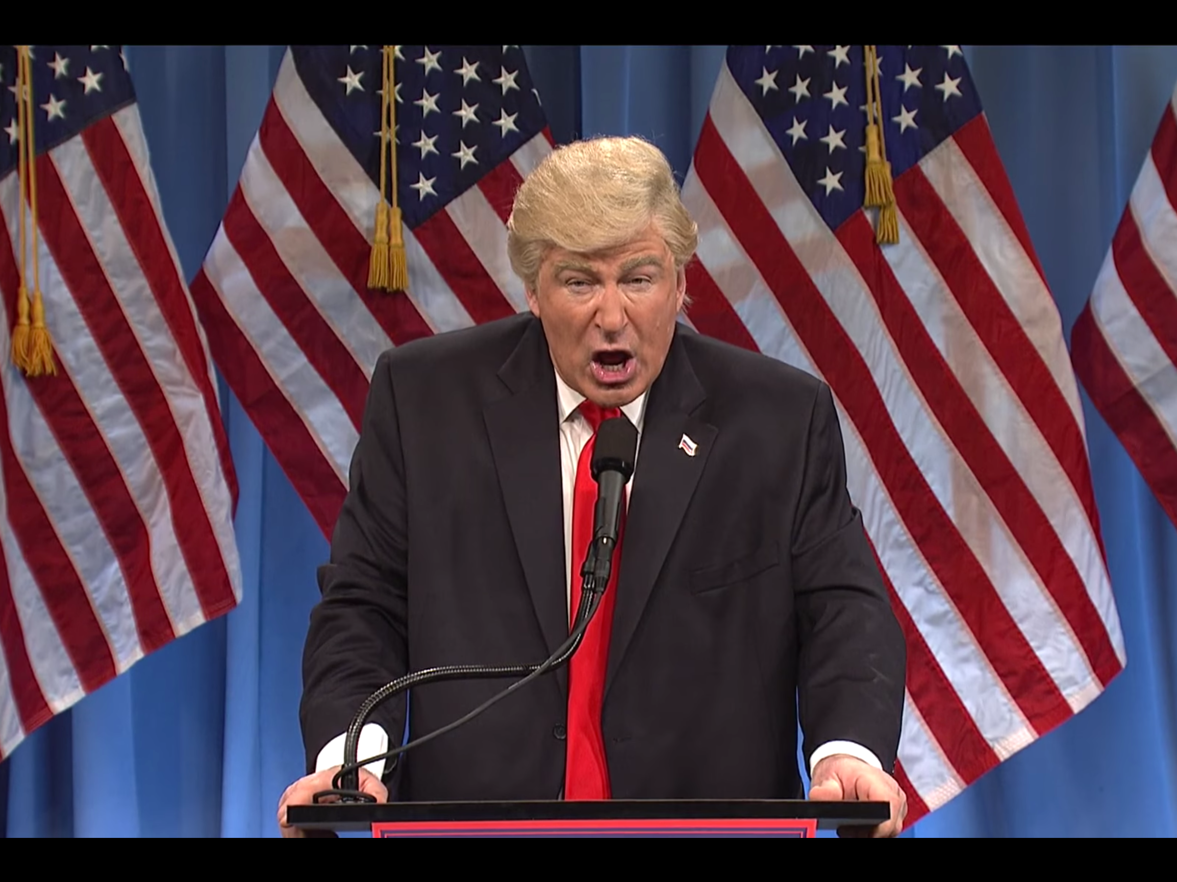 'SNL' Trump Press Conference Skit Preps Americans for Inevitable Freudian Slip