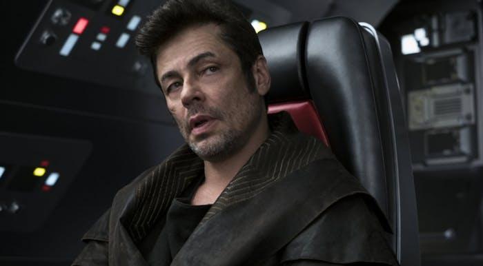 Benicio del Toro's D.J. winds up a villain in 'The Last Jedi'.
