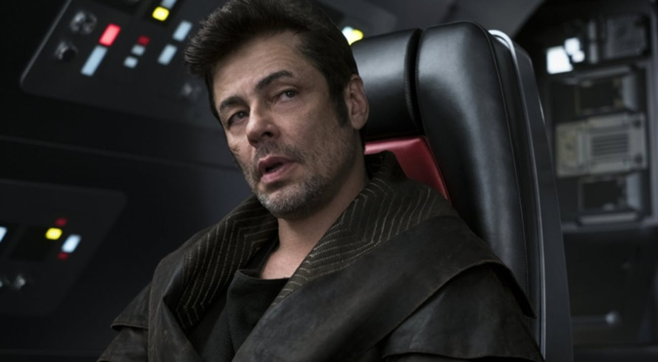 Benicio del Toro's D.J. winds up a villain in 'The Last Jedi'.