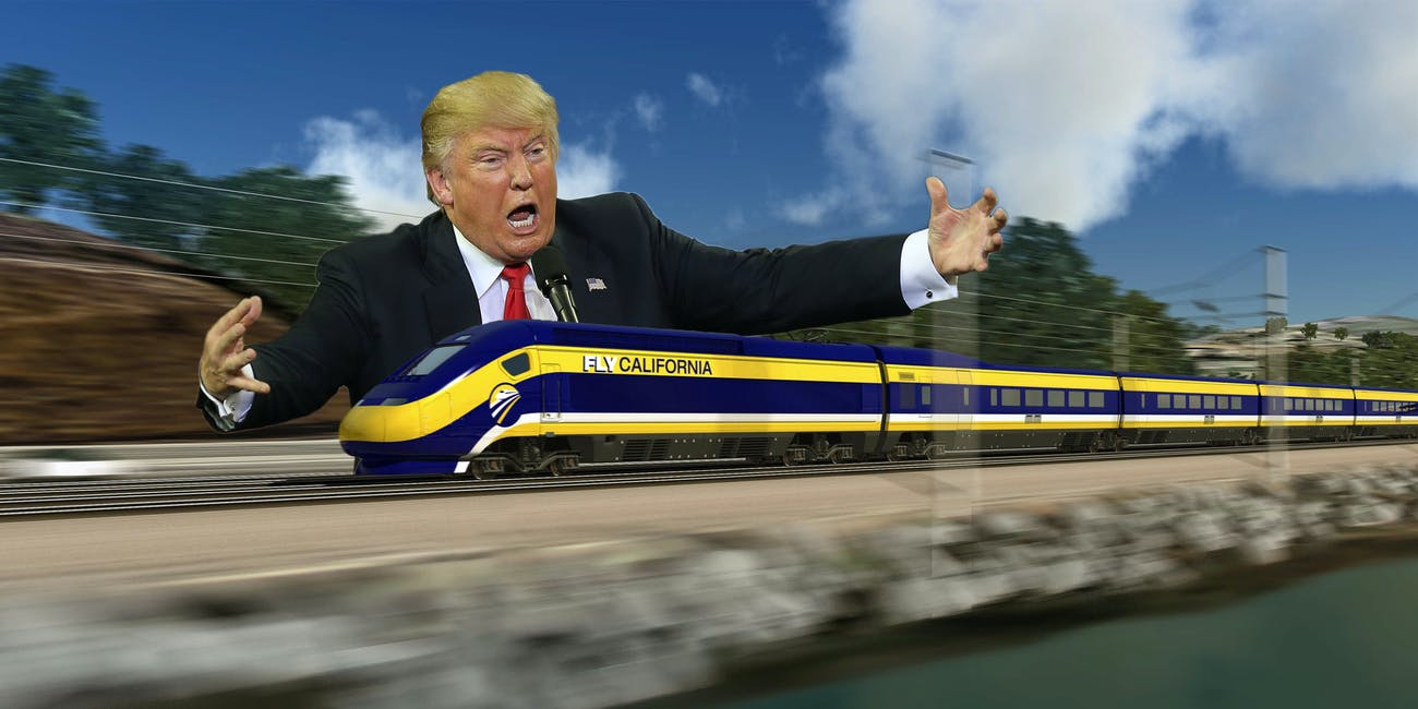 California republicans want President Donald Trump to block funding for the state's high-speed rail.