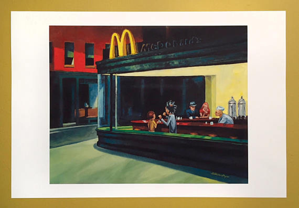 """Nighthawks"" gets the Szechuan sauce treatment."