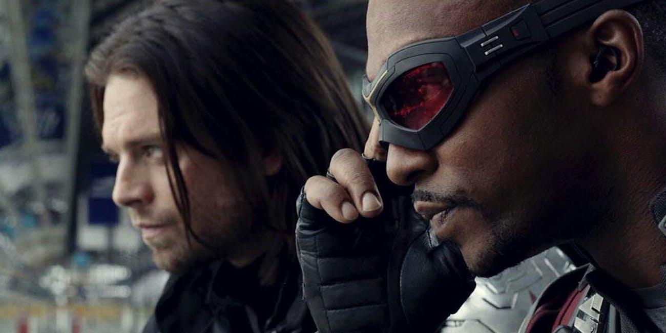 Sebastian Stan and Anthony Mackie in 'Captain America: Civil War'