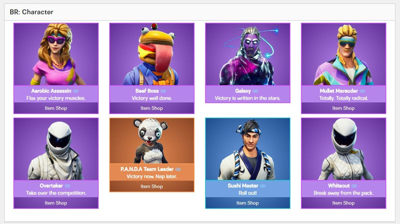 Leaked 'Fortnite' Skins