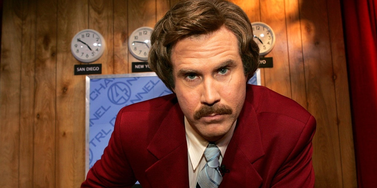 Anchorman Ron Burgundy ready for the day.