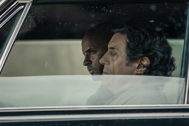Ricky Whittle and Ian McShane in 'American Gods' Episode 3