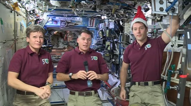 The crew of Expedition 50 is celebrating Christmas in space by sharing their family traditions and food.
