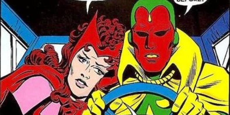 Wanda and Vision in Marvel comics