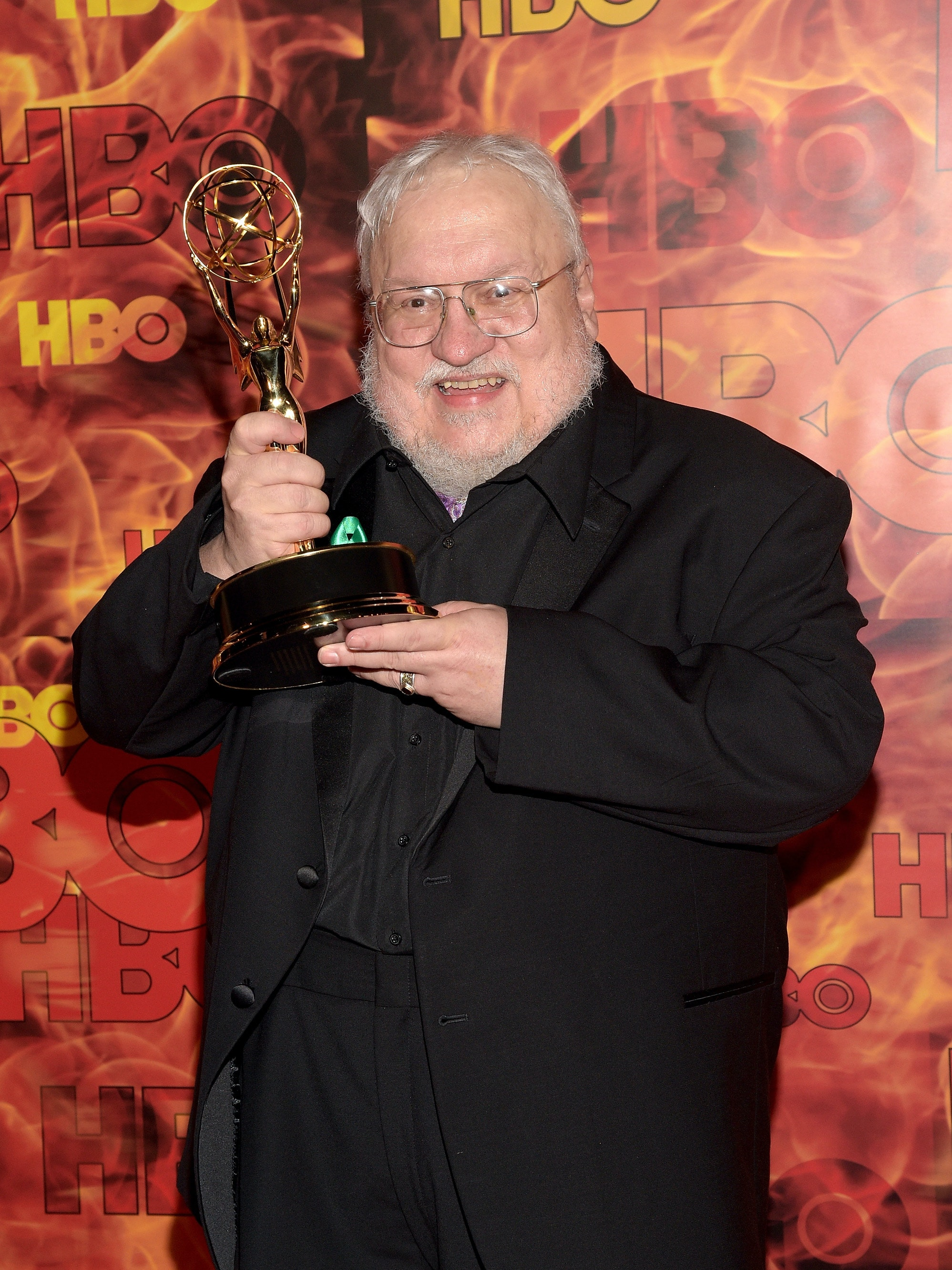 George R.R. Martin with Game of Thrones' Emmy
