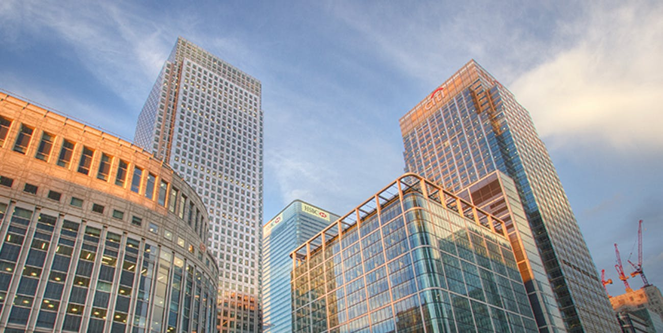 'Sun-Kissed Glass' - Canary Wharf, London