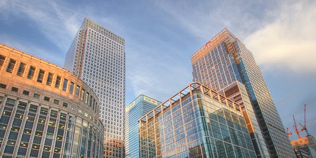 'Sun-Kissed Glass' - Canary Wharf, London