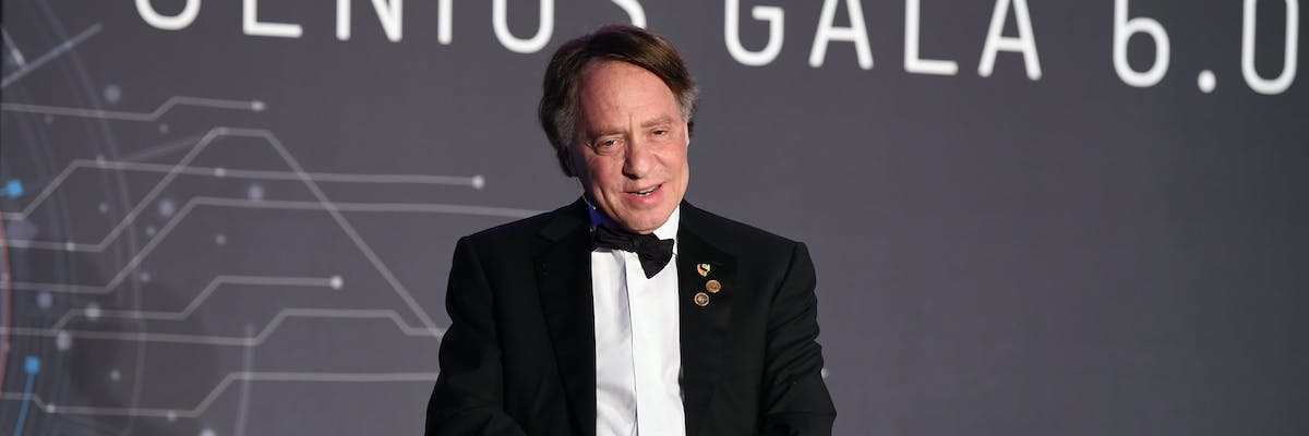 Genius Award recipient, Director of Engineering at Google and Co-Founder and Chancellor of Singularity University Ray Kurzweil speaks on stage during Genius Gala 6.0 at Liberty Science Center on May 5, 2017 in Jersey City, New Jersey.