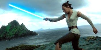 Rey in 'The Last Jedi'