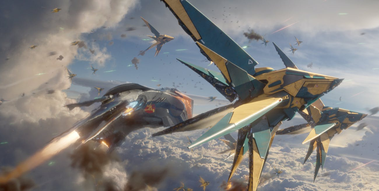 Several of the ships in 'Guardians,' including those operated by the Nova Corps